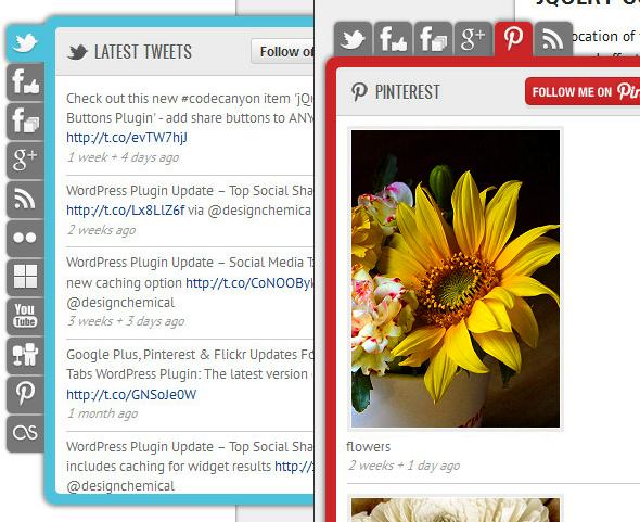 Social Network Tabs für WordPress – Zwei berschiedene Beispiele