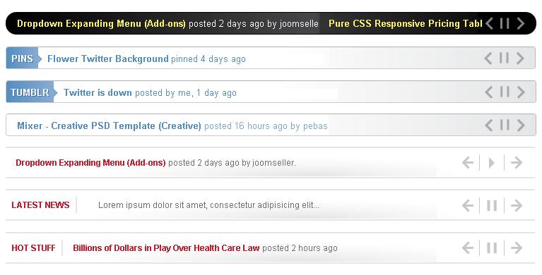 jNewsticker  für WordPress Beispiele